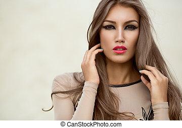 Portrait of a beautiful girl