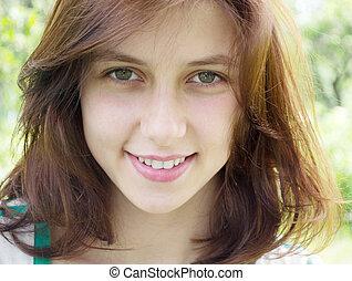 beautiful green-eyed girl