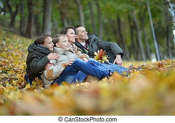 beautiful happy family