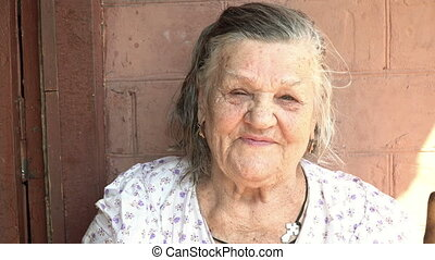 Portrait of a beautiful old woman