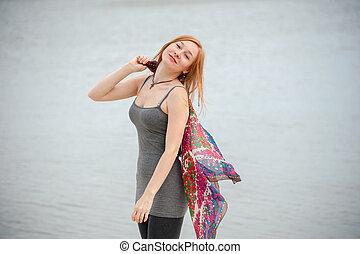 Portrait of a beautiful redhead wom