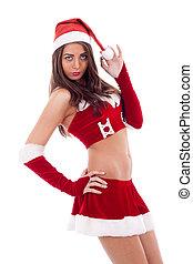 beautiful Santa girl in
