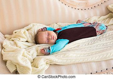Portrait of a beautiful sleeping baby boy