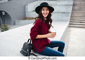 Portrait of a beautiful smiling asian girl