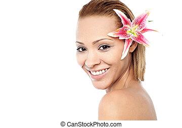 Portrait of a beautiful spa woman