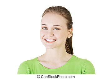 Portrait of a beautiful teen woman.