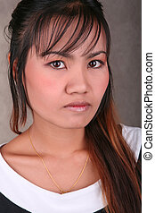 Portrait of a beautiful thai girl