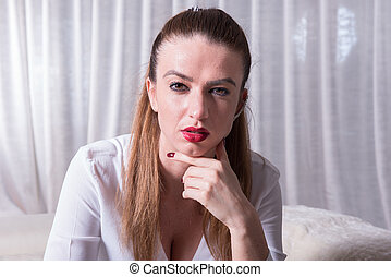 Portrait of a beautiful tough looking woman