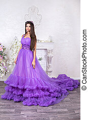 Portrait of a beautiful woman in dress