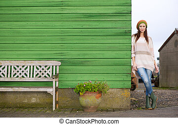 Portrait of a Beautiful Woman Outdoors