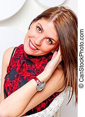 portrait of a beautiful woman shot in studio