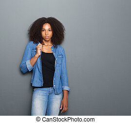 Portrait of a beautiful young black woman