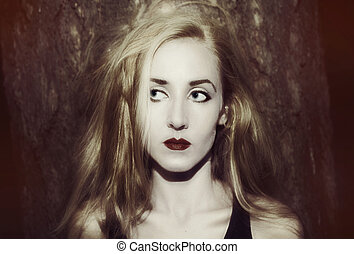 blonde woman with long hair
