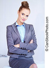 Portrait of a beautiful young business woman