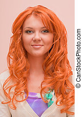 Portrait of a beautiful young ginger woman
