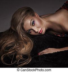 Portrait of a beauty lady