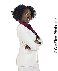 black businesswoman with crossed arms