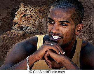 Portrait of a Black Man Smiling