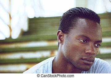 Portrait of a black man's face