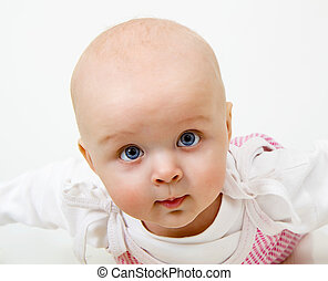 portrait of a blue-eyed baby