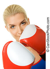 portrait of a boxer girl