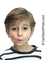 Portrait of a boy isolated on white background