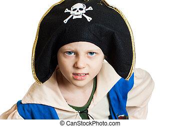 Portrait of a boy pirate