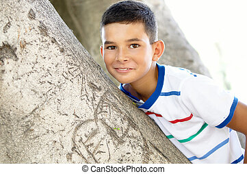 Portrait of a boy .