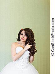 Portrait of a bride with wedding makeup
