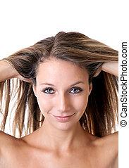 Portrait of a brunette beauty