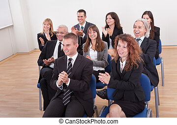 Portrait Of A Business Men And Women In Seminar - Portrait...