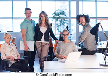 Portrait of a business team At A Meeting