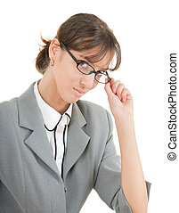 portrait of a business woman in glasses