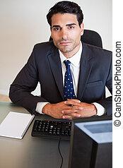 Portrait of a businessman posing