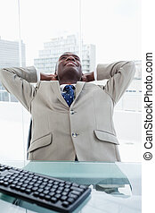 Portrait of a businessman relaxing