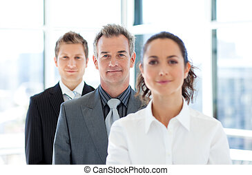 Portrait of a businessman with his business team