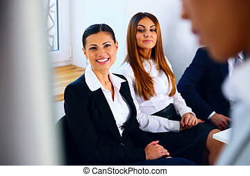 Portrait of a businesspeople on meeting