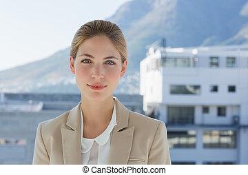 Portrait of a businesswoman in a modern office