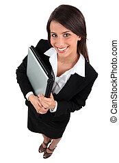 portrait of a businesswoman with laptop