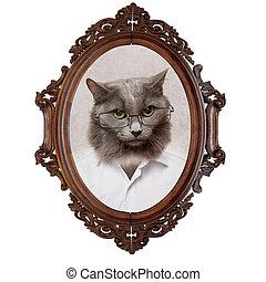 Portrait of a cat of the gentleman