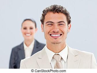 Portrait of a caucasian business team