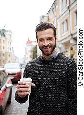 Portrait of a cheerful attractive man