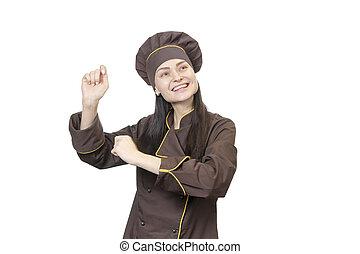 cheerful dancing chef