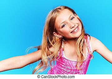 cheerful girl