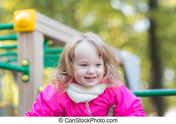 portrait of a cheerful girl