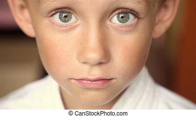 Portrait of a child. Full hd video - Portrait of a boy...