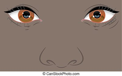 Portrait of a child with Negroid appearance