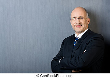 Portrait of a confident smiling mature businessman