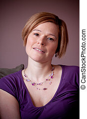 Portrait of a confident, young caucasian woman