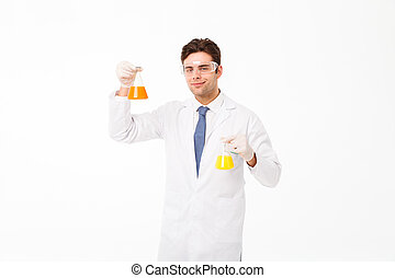 Portrait of a confident young male scientist